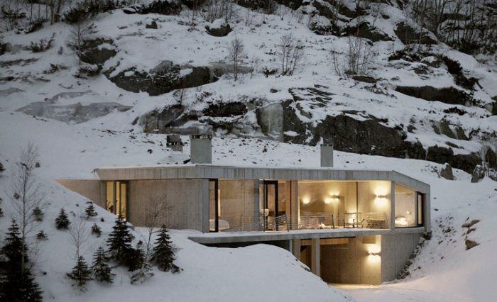 Hytte Sirdalen - загородный дом в стиле «ультраминимализм».