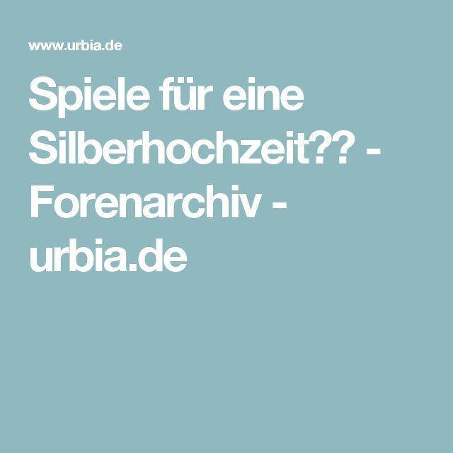 Spiele für eine Silberhochzeit?? - Forenarchiv - urbia.de