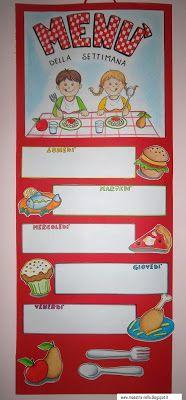 maestra Nella: Cartellone 'Menù della settimana'