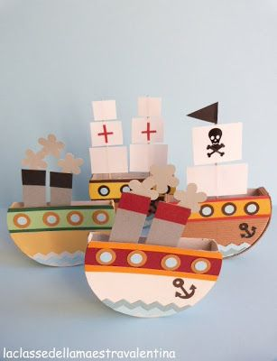 Boats with cheese boxes