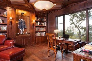Asheville Mountain Изысканный традиционный домашний офис