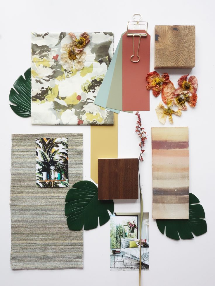 Jungle Inspiration Mood Board for our ecourse on How to Create a Well Structured Mood Board