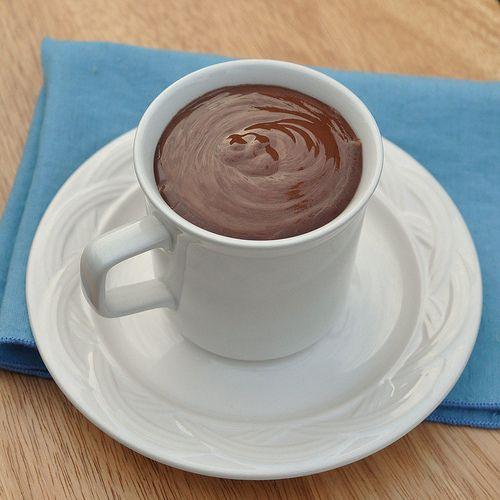 on behalf of italy, i must try this.  :)  Italian Hot Chocolte - Cioccolata Calda