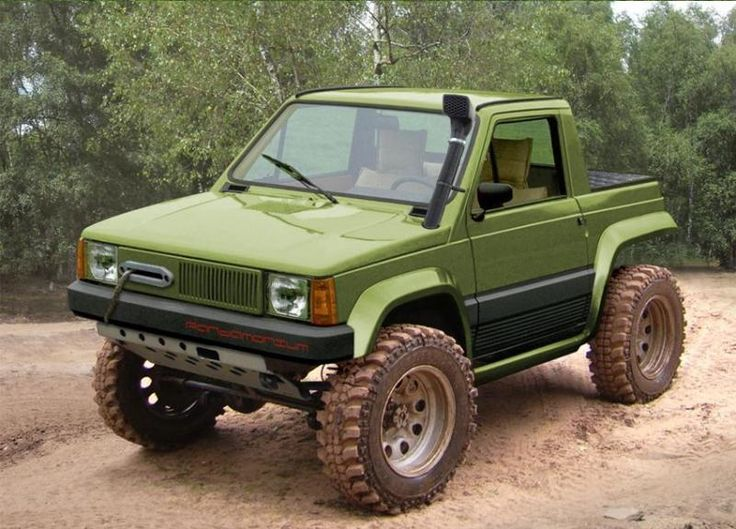 Pick up fiat 4x4 off road family cars sch n for Panda 4x4 sisley off road