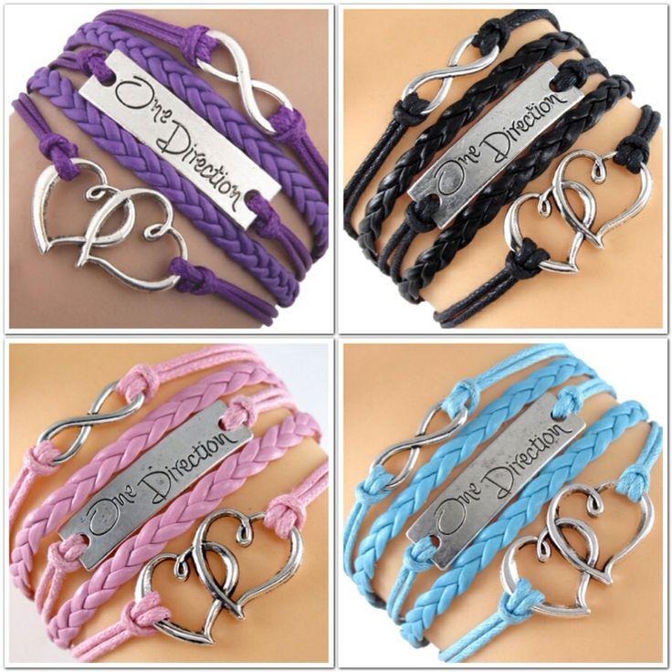 One Direction Infinity bracelets..