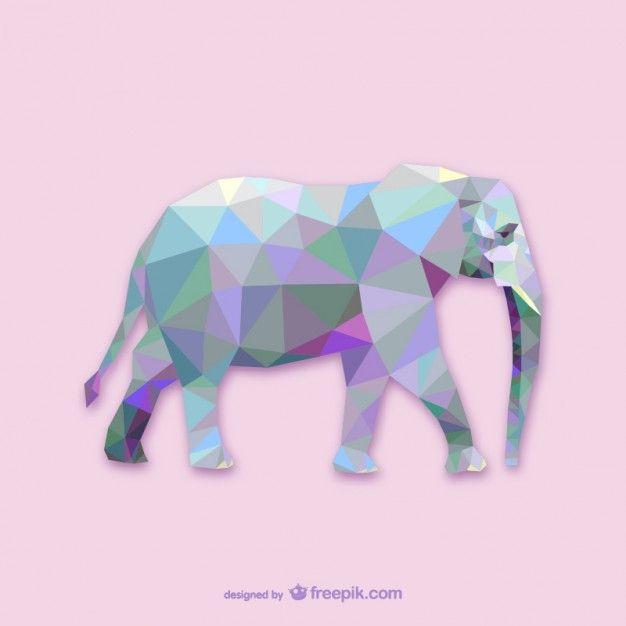 Projeto do elefante triângulo Vetor grátis