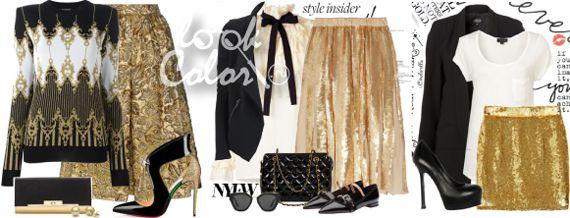 Черное белое золотое в одежде