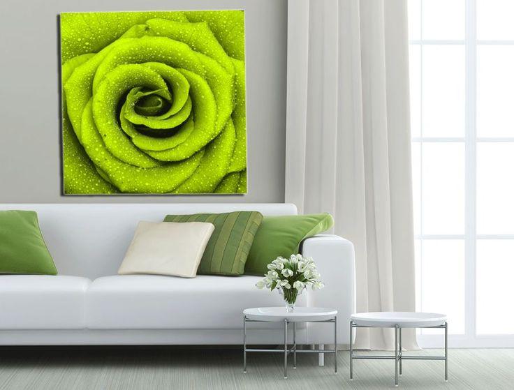 Obraz z zieloną różą do salonu  http://ecoformat.com.pl/fototapety-z-kwiatami-roza-w-roli-glownej/