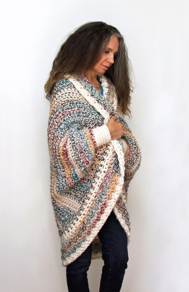 Luxe Oversized Chunky Shrug | Craftsy