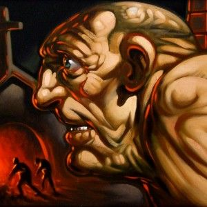Steam and Power – Oil on canvas – 74x64cm – Peter Howson