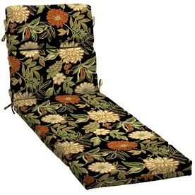 garden treasures 73 in l x 23 in w floral black patio