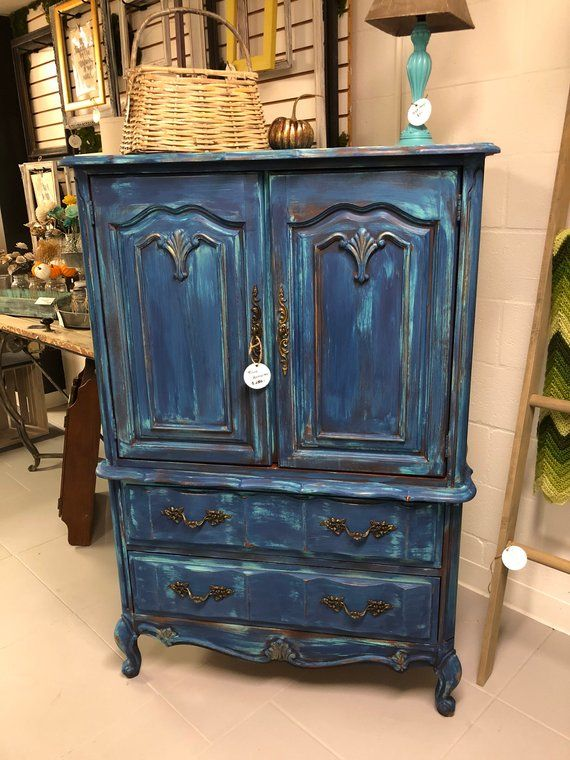 French Provencial Painted Armoire Haus