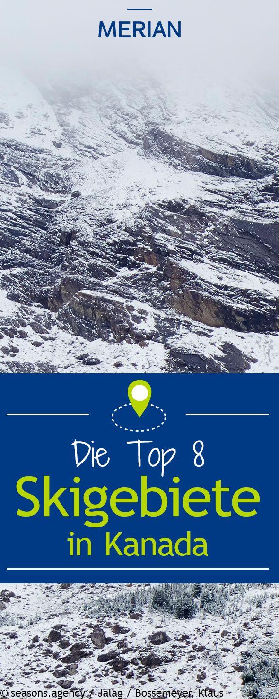 Für ihren extrem trockenen, pudrigen Pulverschnee sind die Skiresorts in und um die Rocky Mountains berühmt. MERIAN.de stellt acht Skigebiete in Kanada vor