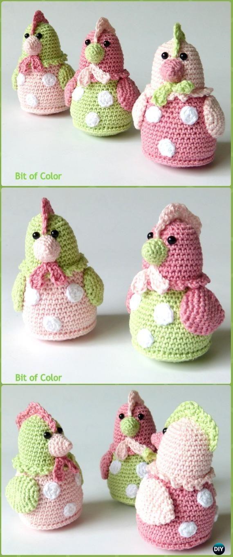 Háčkování Kipje Kuřecí Kitty Amigurumi Zdarma Pattern - Krochet Velikonoční kuřecí vzorky zdarma