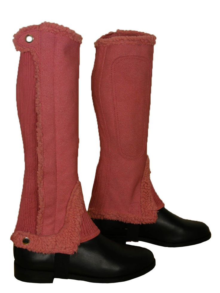 ADULTS HORSE RIDING AMARA SUEDE SHOWING JUMPING GAITERS HALF CHAPS ...