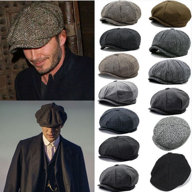 Uk Mens Flat Cap Beret Herringbone Newsboy Bakerboy Hat