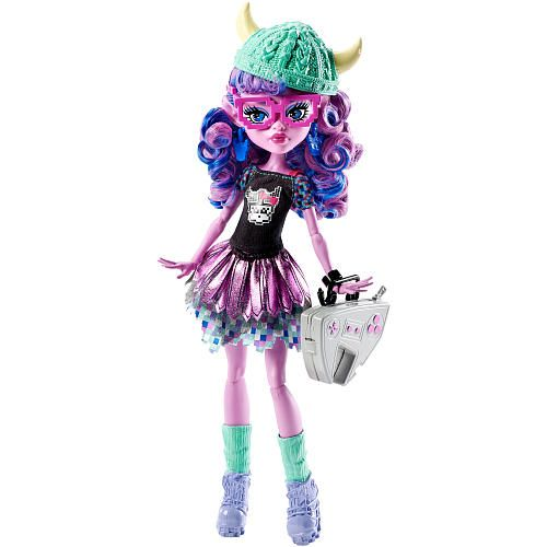 It's a big, scary world out there, and the Monster High ghouls are ready to grab a hold with their claws! A big success, the school is continuing the Monster Exchange program where students get to learn about different skulltures and make new beast friends. Her scary cute top features a gaming decal and printed sleeves, while her gorgeous skirt has a colorful iconic underskirt and shiny petal-shaped overskirt.<br><br>The Monster High Brand-Boo Students Kjersti Trollson Doll…