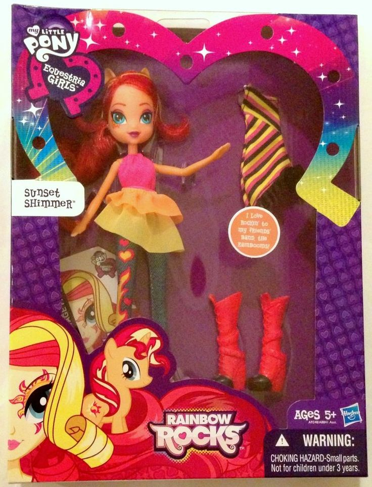 My Little Pony Equestria Girls Rainbow Rocks Sunset Shimmer Fashion Doll #Hasbro