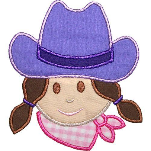Cowgirl Head Applique Design