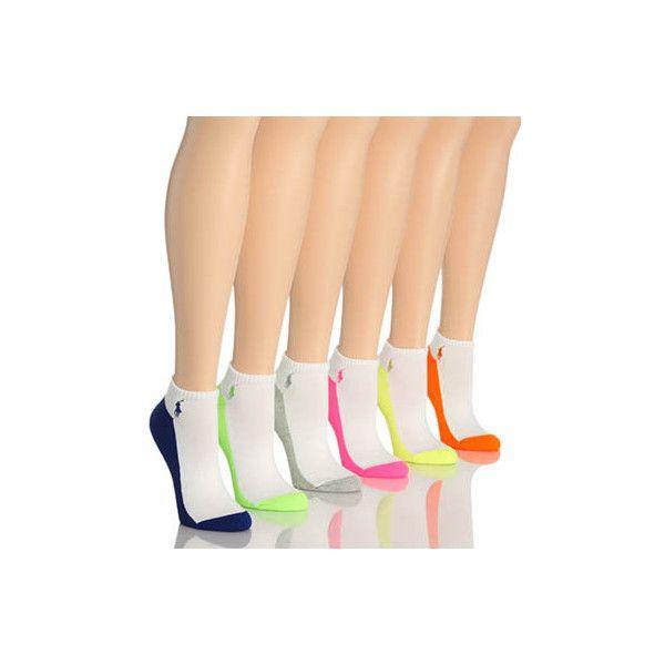 Polo Ralph Lauren Blue Label 727703 Contrast Sole Sock ($13) ❤ liked on Polyvore featuring intimates, hosiery, socks, polo socks, moisture wicking socks, low cut socks, logo socks et wicking socks