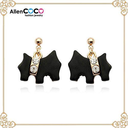Мода сплава luckly собака серьги для леди подарок ремесло, Оптовая продажа ювелирных изделий мода