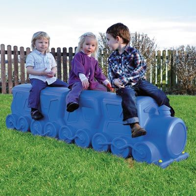 Lo-Co™ is a children's seating product with a steam train design and available in a choice of two colours, this seat can be used indoors and outdoors. #ChildrensSeating #Novelty #Seat #GlasdonUK