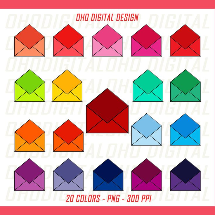 ENVELOPE clipart /envelope stickers /post office stickers/ mailbox clipart /post office clipart /rainbow envelope icon mailbox sticker by OHODIGITAL on Etsy
