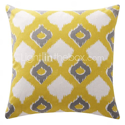 Cotton Pillow Cover / Pillow With Insert , Geometric Modern/Contemporary - USD $8.99