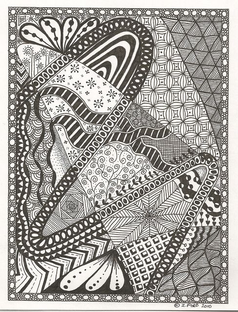 by Zoe Ford. I love the border and the string running through the piece.