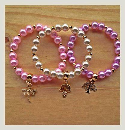 pulseras colores perlados
