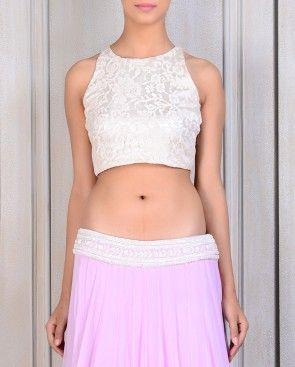 Lilac Georgette Lehenga Set