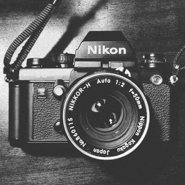 Nikon F3 w/ Nikkor-H 50mm f/2 … This is my trusty old steed. (EH)