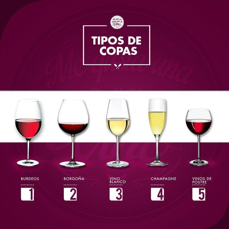 Tipos De Copas de vino WineLovers  Aunque cada copa tiene su varietal, esta no es regla! Salud!