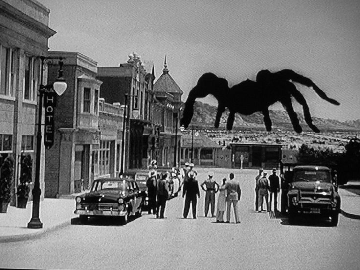Tarantula - 1955 -- Jack Arnold had a long career working in a variety of genres, but he has always been defined by his horror/sci-fi work.  Whatever he did, he brought a level of pathos that often transcended the ludicrous nature of the material -- the sign of a great dramatist.