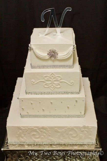 White Diamond Wedding cake