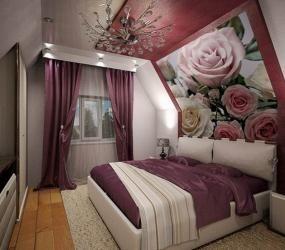 Спальня с цветочными мотивами