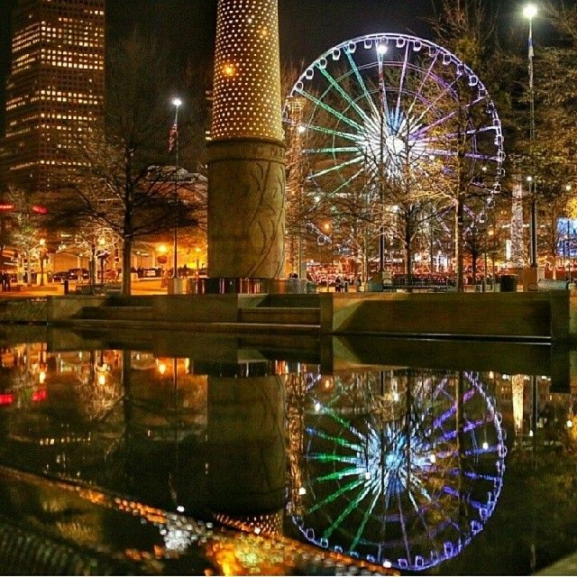 Amazing shot of Downtown Atlanta & Skyview from Centennial Olympic Park.Photo by @joeforthenguyen.  Beautiful!