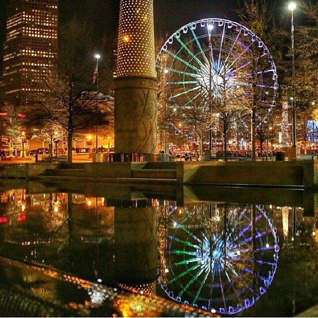 Amazing shot of Downtown #Atlanta & Skyview. Photo by @joeforthenguyen.