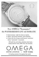 Omega Seamaster Watch Second Hand 1950 Ad Picture