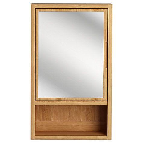 buy john lewis more single mirrored bathroom cabinet online at johnlewiscom