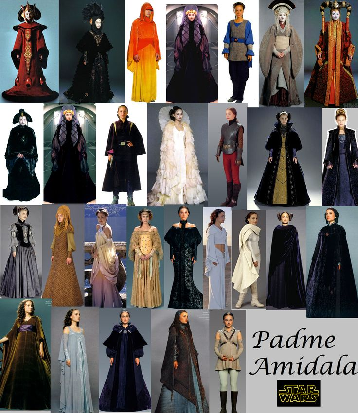 Almost all of Padme's outfits - what a fabulous wardrobe.