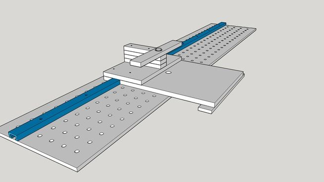 Large preview of 3D Model of Shelf Pin Drilling Jig