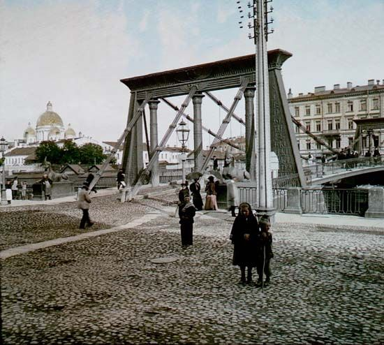 """Petersburg, 1896. Egyptian Bridge"""