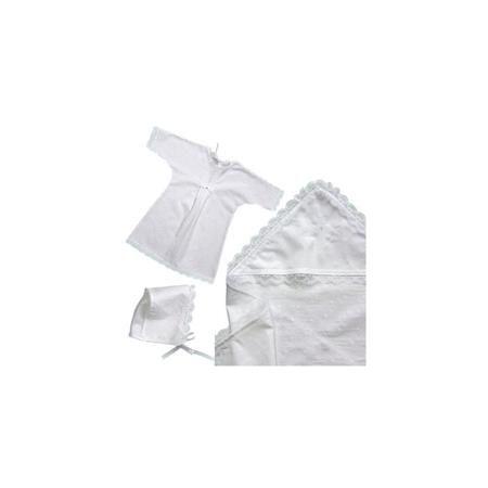 Крестильный набор ЗОЛОТОЙ ГУСЬ для девочки 3пр  — 990р. -------- Крестильный набор для девочки из трёх предметов: рубашка, чепчик, уголок