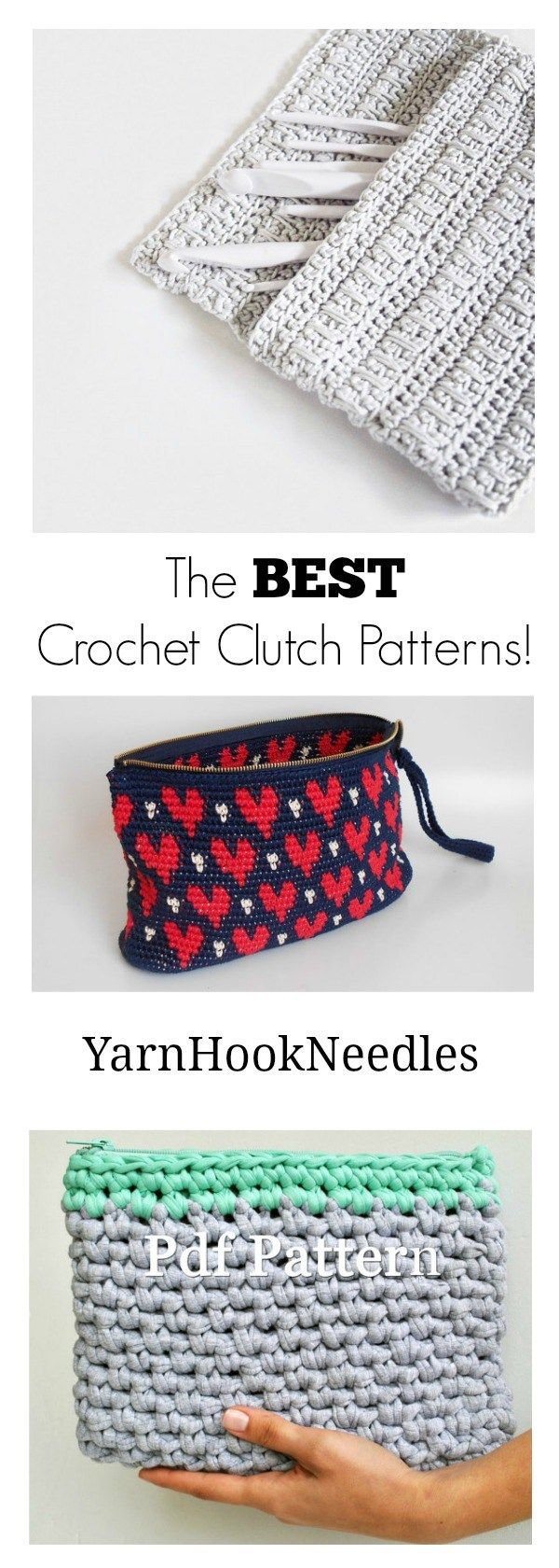 Need a quick summer crochet project? Check out this awesome roundup of crochet clutch patterns! Plus the Moss Stitch Clutch Pattern with a Video!