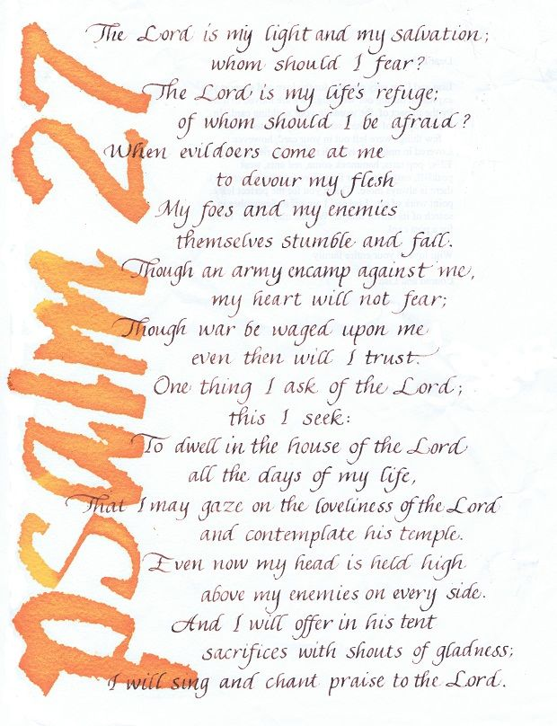 34 best confirmation images on pinterest bible birthdays and psalm 27 for a confirmation gift in customcalligraphy by monks of age calligraphers bible versesscripture negle Choice Image