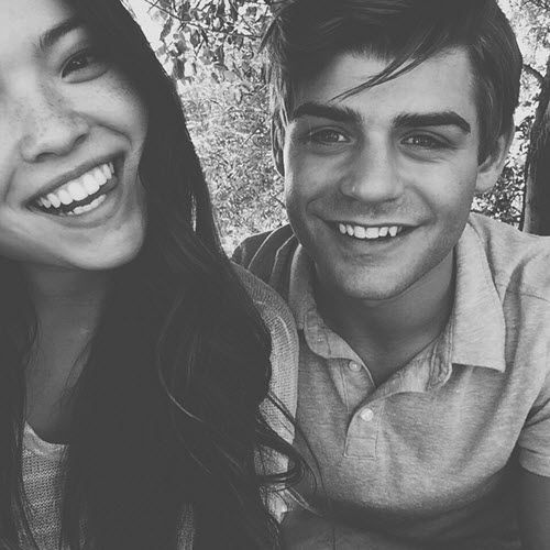 """Photo: Piper Curda Enjoyed Time With Garrett Clayton While Working On """"Teen Beach 2″ Promos March 5, 2015 - Dis411"""