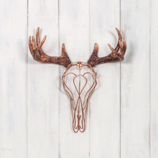 Wire Deer Skull in Cooper | Faux Taxidermy | Cult Furniture