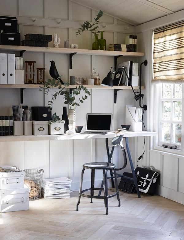 black and white home office. looking for countrystyle home office decorating ideas take a look at this from homes u0026 gardens inspiration more black and white