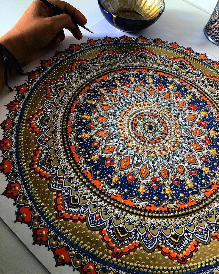 Juxtapoz Magazine - Asmahan Mosleh's Gold-Gilded Mandalas